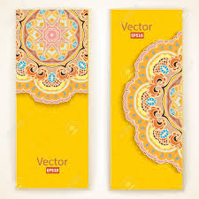 Wedding Invitation Cards Indian Elegant Indian Ornamentation On A Dark Background Lace Pattern