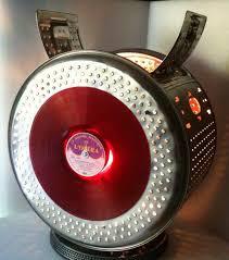 lampe créée à partir d u0027un tambour de machine à laver et d u0027un