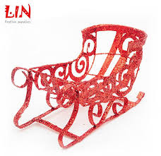 26x14cm the decorations wrought iron glitter santa