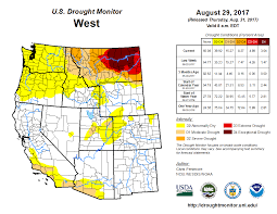 Montana Weather Map by Drought August 2017 State Of The Climate National Centers