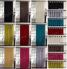 Curtains 145 Cm Drop Taffeta Curtains Ebay