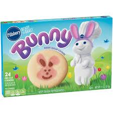 Pillsbury Sugar Cookies Halloween by Pillsbury Ready To Bake Bunny Shape Sugar Cookies 24 Ct Box