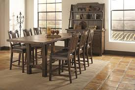 Tall Dining Room Sets Coaster Padima 7 Piece Counter Height Dining Room Set In Rustic