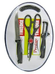 buy prestige tru edge 43018 kitchen knife set with cutting board