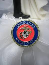 marine cake topper military weddings