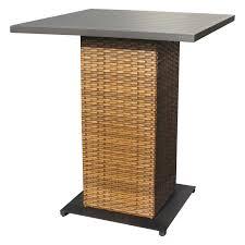 Orange Wicker Patio Furniture - outdoor wicker pub table set pub table and stools