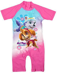 girls paw patrol pup power skye u0026 everest sunsafe swimsuit