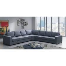 canapé angle lili 7 places gris tissu achat vente canapé sofa