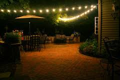 decorative outdoor patio simple outdoor patio lighting string