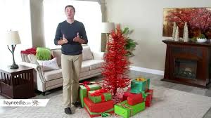 5ft red tinsel twig tree product review video youtube