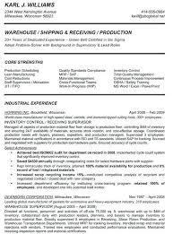 Sample Resume For Warehouse Supervisor 100 Examples Warehouse Resumes Lager Cv Beispiel Visualcv
