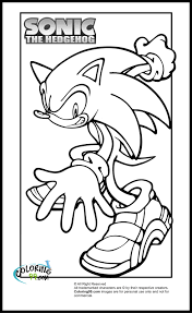 sonic coloring pages print