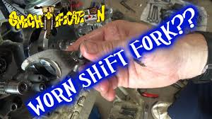 bent worn shift fork 2001 yamaha yz426f project part 12