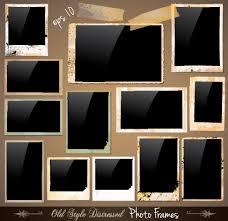 set of polaroid photo frames vector material 03 vector frames
