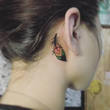 tattoo neck behind ear feather tattoo behind ear best tattoo ideas gallery
