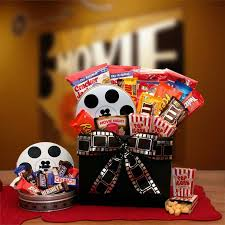 Movie Themed Gift Basket Family Flix Movie Night Gift Box With Red Box Gift Card Hayneedle