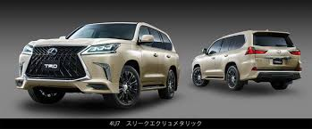 lexus japan lexus lx 570 goes crazy with trd grille and body kit in japan