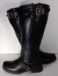 biker boots brands frye 77605 veronica slouch black leather motorcycle boots women s