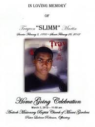 michael jackson funeral program the cover of trayvon martin s funeral program celebamnesia
