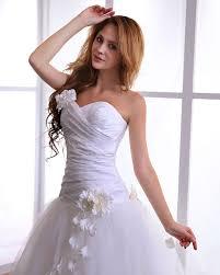 brautkleid fã r standesamt elegante weiß brautkleider tüll a linie brautmoden