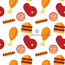 seamless pattern food seamless pattern with fast food public domain vectors