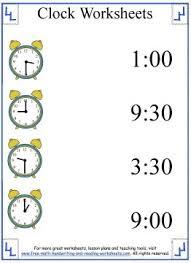 clock worksheets learning half hours