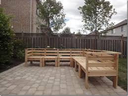 diy cedar outdoor sectional made from decking cedar boards uses