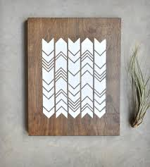 print on wood chevron screen print on wood pieces retro menagerie