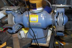 3 4 hp 3450 rpm baldor grinder with bear tex polishing wheel