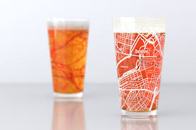 Boston University Map by Boston Ma Boston University College Town Map Pint Glass Set