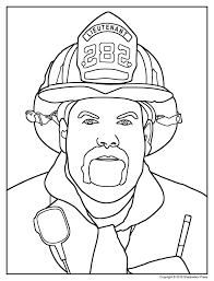 fireman coloring pages kindergarten virtren com