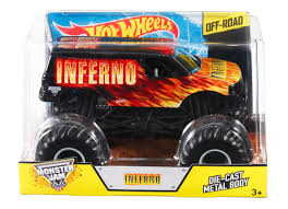 wheel monster jam trucks list wheels monster jam inferno 1 24 die cast vehicle shop