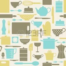 articles de cuisine seamless motif répétitif avec des articles de cuisine dans le