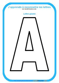Coloriage Alphabet lettres géantes  Coloriage Lettre A géante
