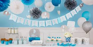 baby shower decorations for blue baby elephant baby shower decorations party city