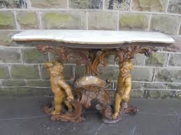 antique marble top pedestal table decorative antique marble top wood gesso console table bai