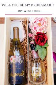 will you be my of honor ideas best 25 bridesmaid wine bottle ideas on wine