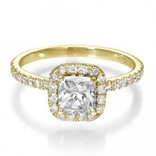 gold cushion cut engagement rings diamond engagement ring with side stones 1 carat 1 00ct