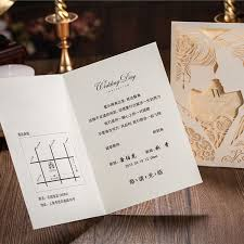 customized invitations white wedding invitation cards lacer cut luxury wedding