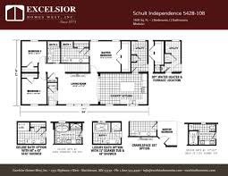 Floor Plans For Bathrooms With Walk In Shower by Schult Independence 5428 108 Excelsior Homes West Inc