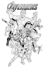13 marvel coloring page print color craft