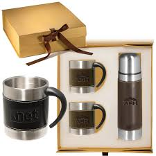 leeman empire coffee cup and thermos gift set leeman gifts