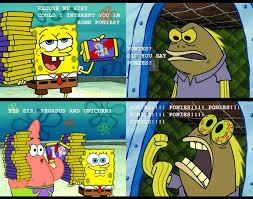 Chocolate Spongebob Meme - spongebob chocolate guy going crazy over ponies mlp fim