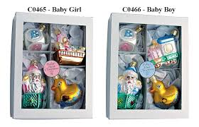 baby s boxed set of four ornaments by inge glas
