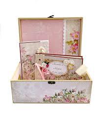 personalized scrapbook album wedding gift set gift set for women treasure box wedding