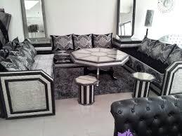 canape marocain salon marocain blanc et argent canape capitonne noir et gris