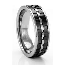 carbon fiber wedding band lorenzo tungsten carbon fiber ring artcarved men s wedding bands