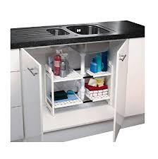under sink storage tidy amazon co uk kitchen home addis under sink storage unit white amazon co uk kitchen home