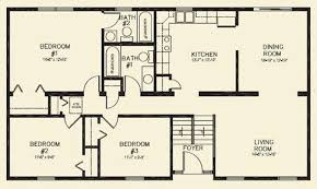 3 bedroom 2 bath floor plans best of house plans 3 bedroom 1 bathroom home plans design