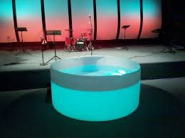 baptisms church stage design ideas